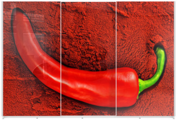 Panel szklany do szafy przesuwnej - Tandoori, red chili pepper