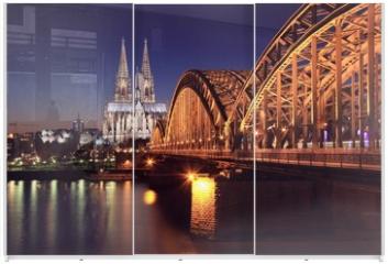 Panel szklany do szafy przesuwnej - Kölner Dom bei Nacht
