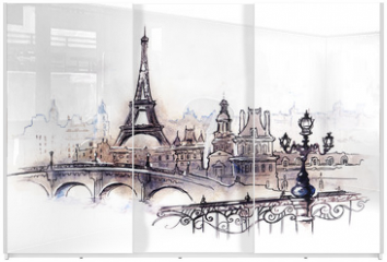 Panel szklany do szafy przesuwnej - Paris (series C)