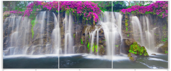 Panel szklany do szafy przesuwnej - Beautiful Lush Waterfall