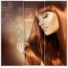 Panel szklany do szafy przesuwnej - Healthy Hair