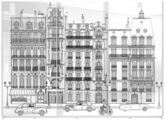 Panel szklany do szafy przesuwnej - Paris - Facades