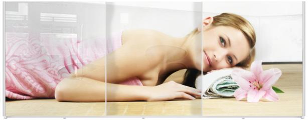 Panel szklany do szafy przesuwnej - relaxing in spa