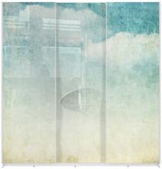 Panel szklany do szafy przesuwnej - vintage