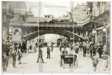 Panel szklany do szafy przesuwnej - Friedrichstrasse Postcard