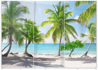 Panel szklany do szafy przesuwnej - Catalina island in Dominican republic