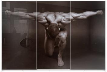Panel szklany do szafy przesuwnej - The muscular male