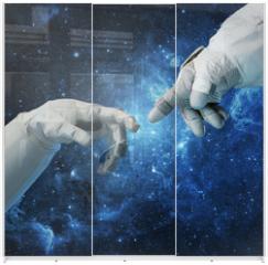 Panel szklany do szafy przesuwnej - New technologies in space. Concept