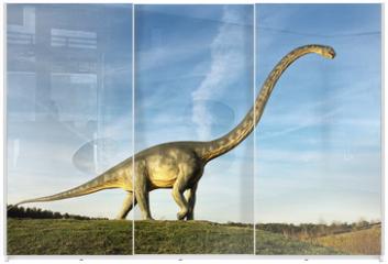 Panel szklany do szafy przesuwnej - Dino
