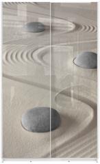 Panel szklany do szafy przesuwnej - zen garden