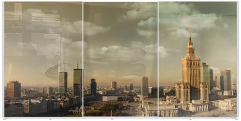 Panel szklany do szafy przesuwnej - Warsaw panorama