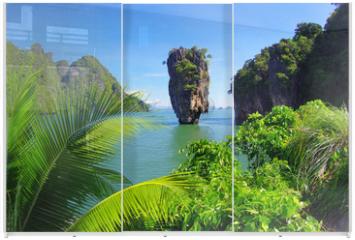 Panel szklany do szafy przesuwnej - james bond island