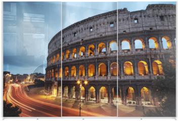 Panel szklany do szafy przesuwnej - Coliseum at night. Rome - Italy