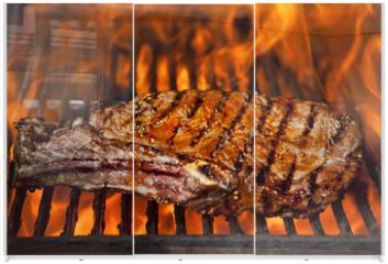 Panel szklany do szafy przesuwnej - Top sirloin steak