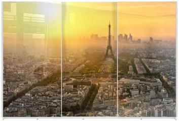 Panel szklany do szafy przesuwnej - Paris Tour Eiffel