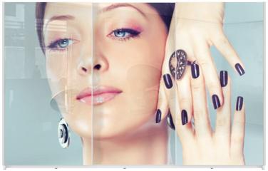 Panel szklany do szafy przesuwnej - manicure