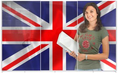 Panel szklany do szafy przesuwnej - Learn English