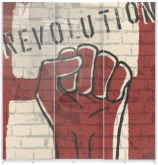Panel szklany do szafy przesuwnej - Revolution! vector illustration, EPS10