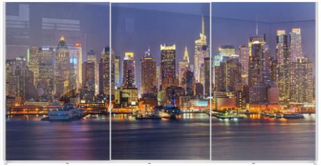 Panel szklany do szafy przesuwnej - Manhattan at night