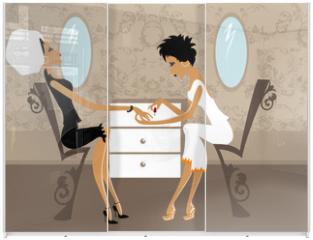 Panel szklany do szafy przesuwnej - Miss Boo
