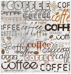Panel szklany do szafy przesuwnej - Coffee background