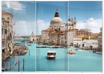 Panel szklany do szafy przesuwnej - Grand Canal and Basilica Santa Maria della Salute, Venice, Italy