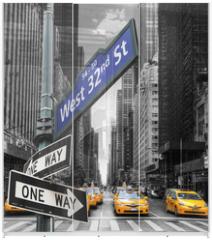 Panel szklany do szafy przesuwnej - Taxis à New York.