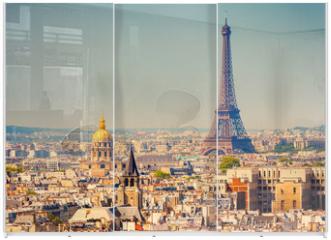 Panel szklany do szafy przesuwnej - Eiffel Tower