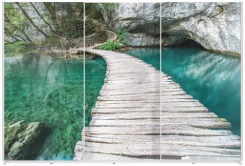Panel szklany do szafy przesuwnej - Ponte di Plitvice