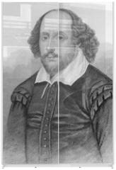 Panel szklany do szafy przesuwnej - William Shakespeare