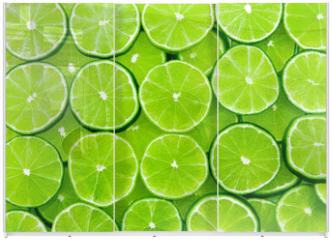 Panel szklany do szafy przesuwnej - lime background
