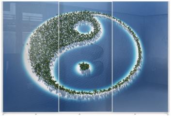 Panel szklany do szafy przesuwnej - Yin und Yang - Insel Konzept 3