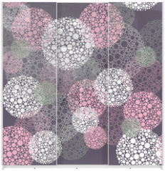 Panel szklany do szafy przesuwnej - Abstract seamless polka dot circles pattern
