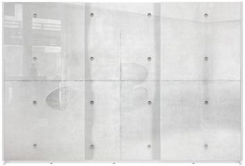 Panel szklany do szafy przesuwnej - Abstract background, grey cement wall
