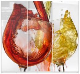 Panel szklany do szafy przesuwnej - calici di vino bianco e rosso