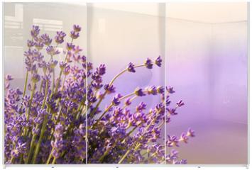Panel szklany do szafy przesuwnej - Lavender flowers bloom summer time