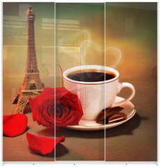 Panel szklany do szafy przesuwnej - Romantic trip to France