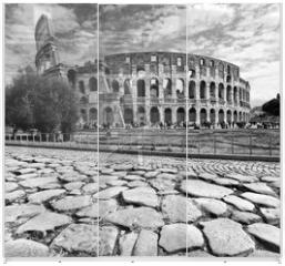 Panel szklany do szafy przesuwnej - The Majestic Coliseum, Rome, Italy.
