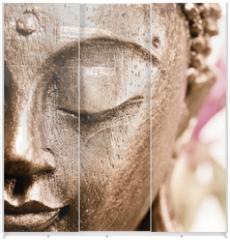 Panel szklany do szafy przesuwnej - Buddha