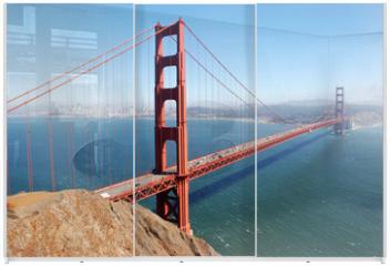 Panel szklany do szafy przesuwnej - Golden Gate Bridge