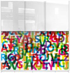 Panel szklany do szafy przesuwnej - Vector Abstract Colour Alphabet
