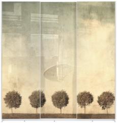 Panel szklany do szafy przesuwnej - grunge image of trees