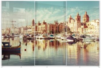 Panel szklany do szafy przesuwnej - View of beautiful Vittiriosa Seafront