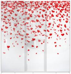 Panel szklany do szafy przesuwnej - Herzkonfettiregen