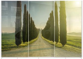 Panel szklany do szafy przesuwnej - Tuscany, Landscape. Italy