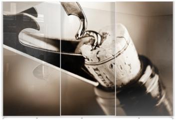 Panel szklany do szafy przesuwnej - aged fine wine