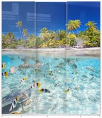 Panel szklany do szafy przesuwnej - Tropical island