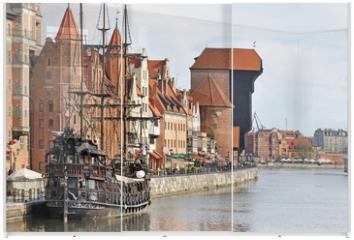Panel szklany do szafy przesuwnej - Old town of Gdansk
