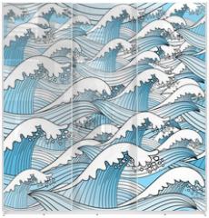 Panel szklany do szafy przesuwnej - texture of sea waves