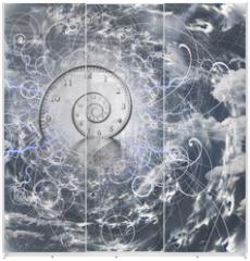 Panel szklany do szafy przesuwnej - Time and Quantum Physics